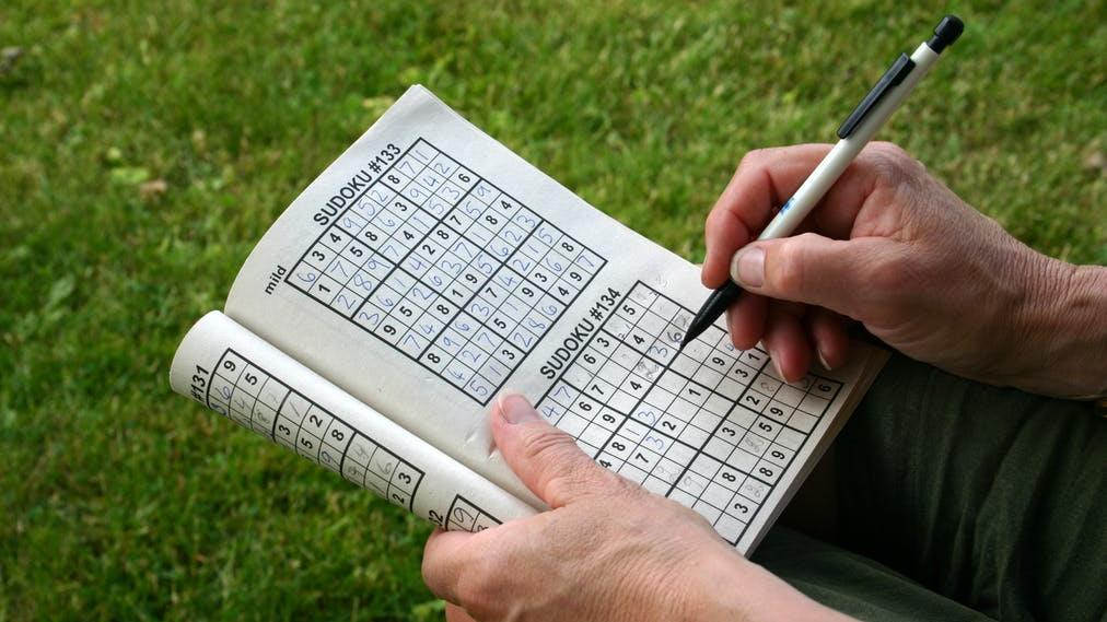 Brain training: Doing sudoku will certainly make you better at... doing sudoku PICTURE: SHUTTERSTOCK