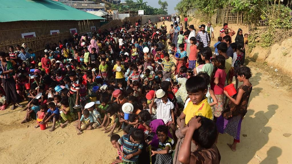 Victims: Rohingya in a Bangladesh camp PIC: GETTY
