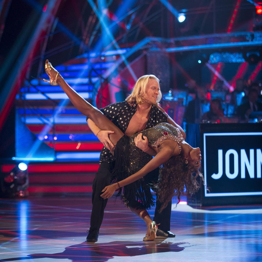 In tune: Peacockand dance partnerOti Mabuse onStrictly ComeDancing