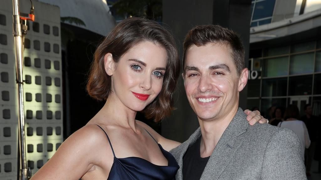 Work and play: Dave Franco with wife and co-star Alison Brie