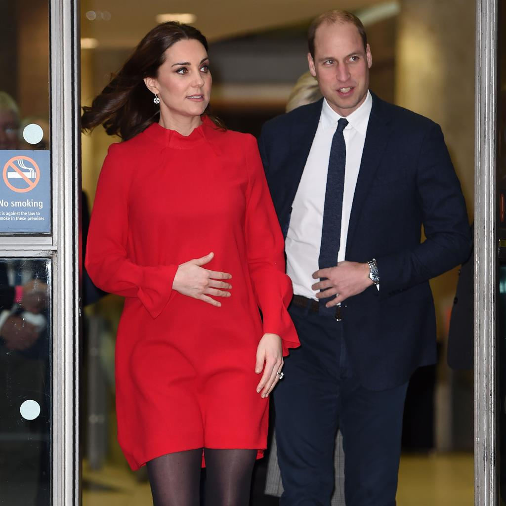 Bumpy ride: Kate, who suffers morning sickness, with William yesterday PICTURE: GETTY