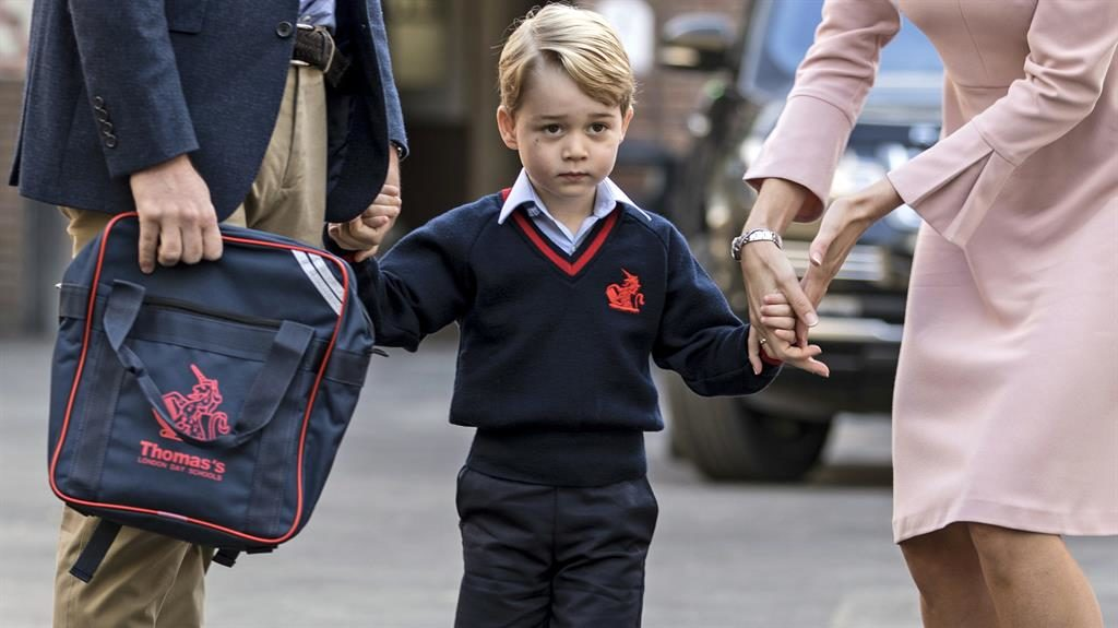 Under threat: A photo of Prince George and his school address were allegedly shared on social media PICTURE: AP