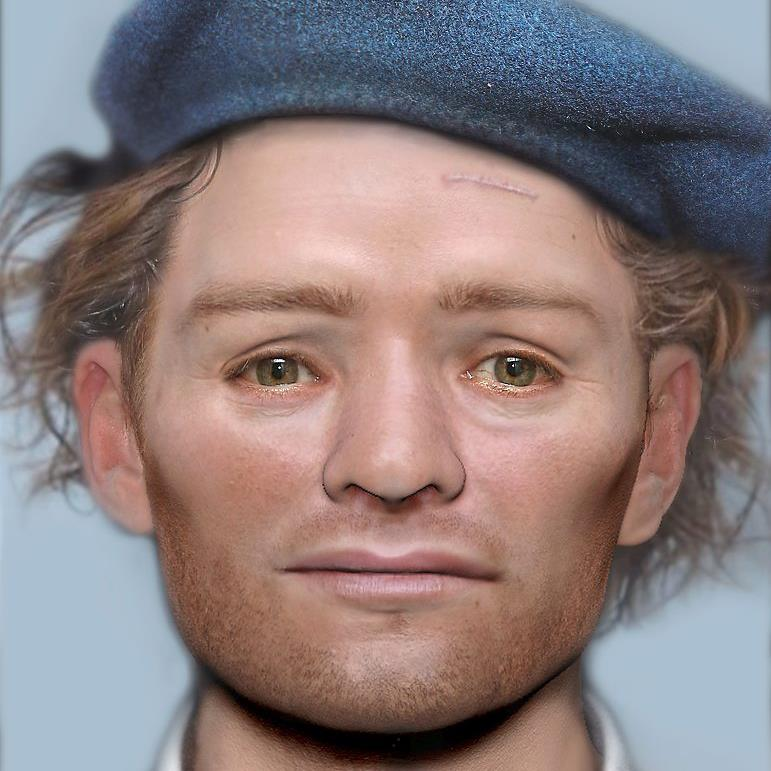 Face to face: The reconstruction of the captured soldier, who died in jail PICS: PA