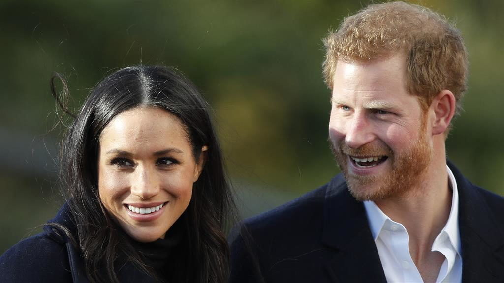 Right royal day: Meghan and Harry PIC: AP