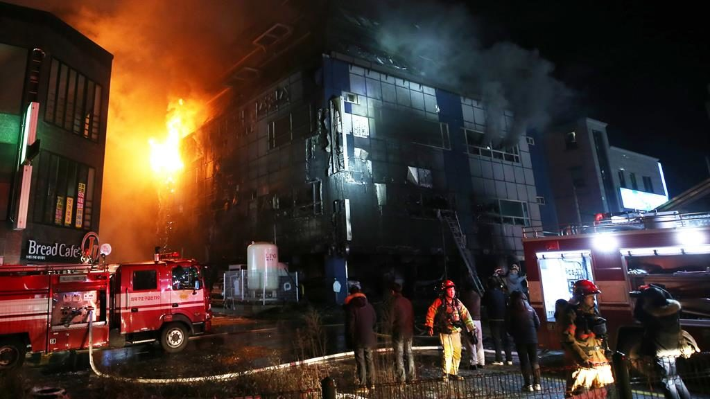 At least 29 dead in sauna fire in S. Korea: fire service