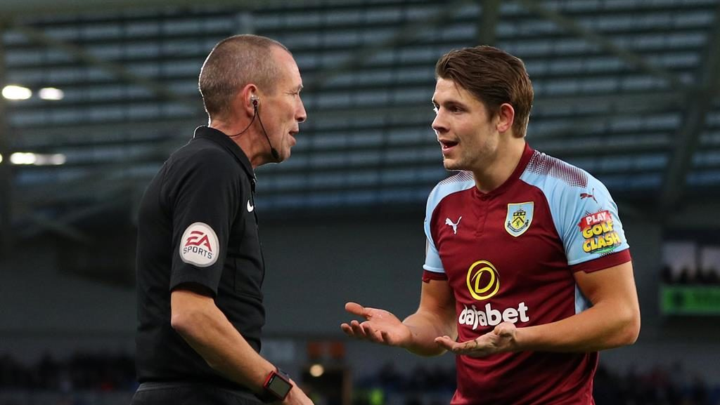 Burnley boss Sean Dyche 'disappointed' with James Tarkowski's three-match ban