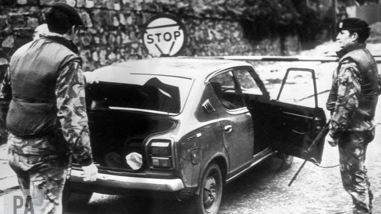 Hold it Border checks during the troubles slowed things down
