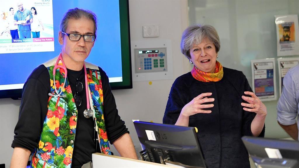 Visit Theresa May at Frimley Park Hospital near Camberley Surrey