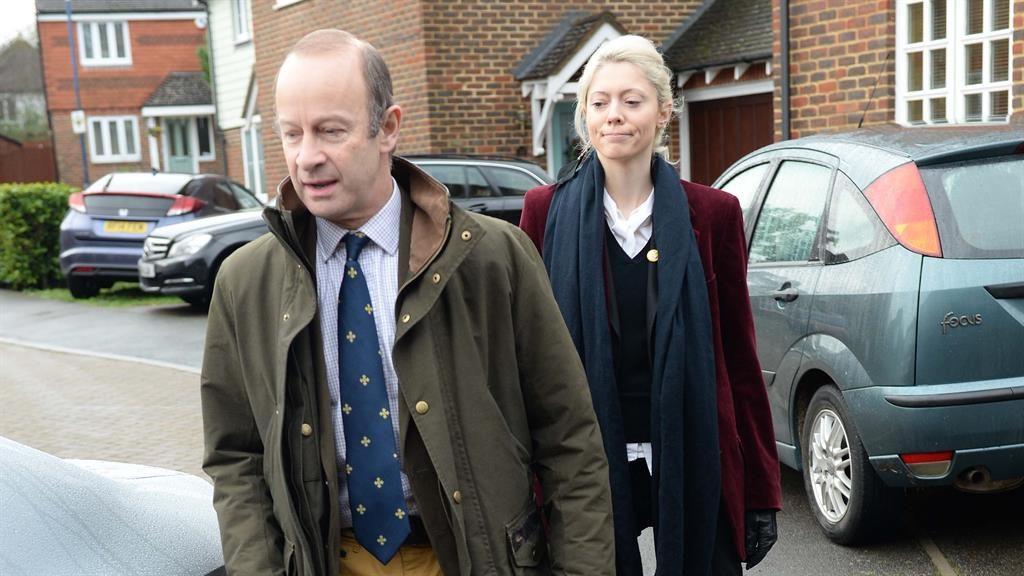 Romance: Henry Bolton with model and Ukip activist Jo Marney, 25 PICTURE: STEVE FINN