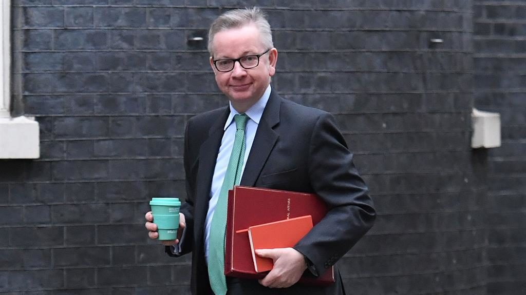Example Michael Gove with his reusable cup PIC PA