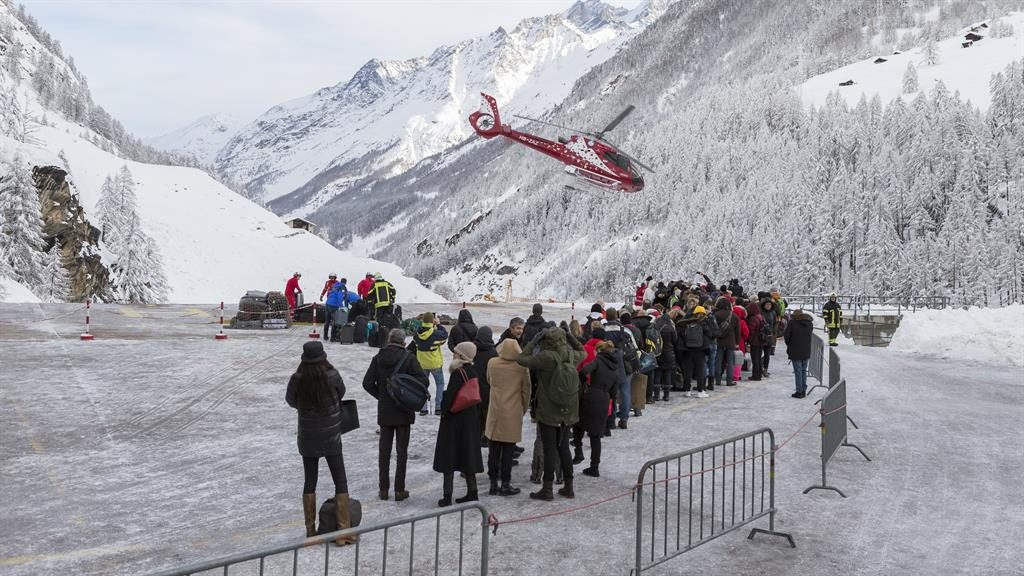 Switzerland's Zermatt ski resort cut off due to avalanche risk