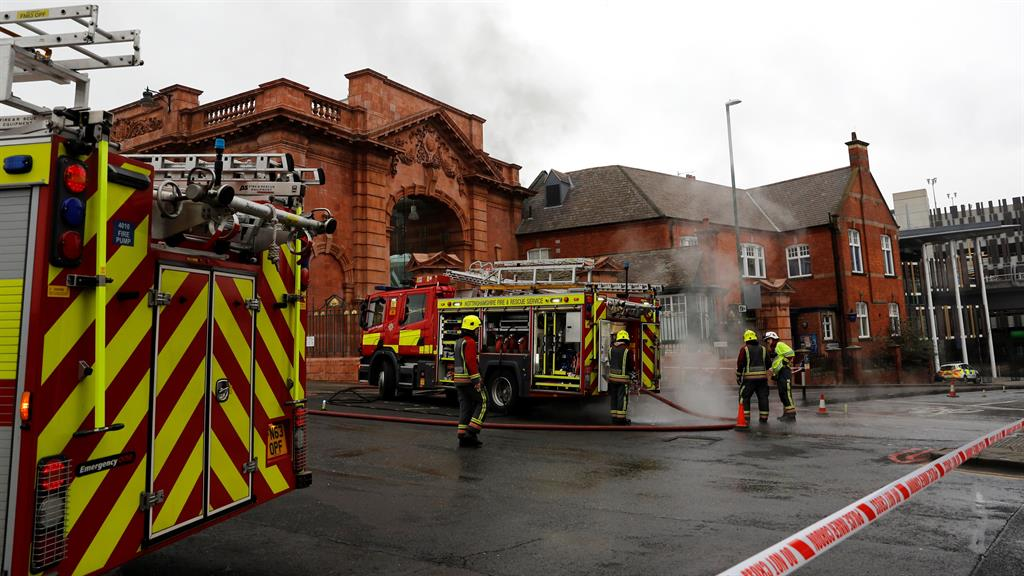 Clean-up Firefighters continued to tackle the blaze this morning