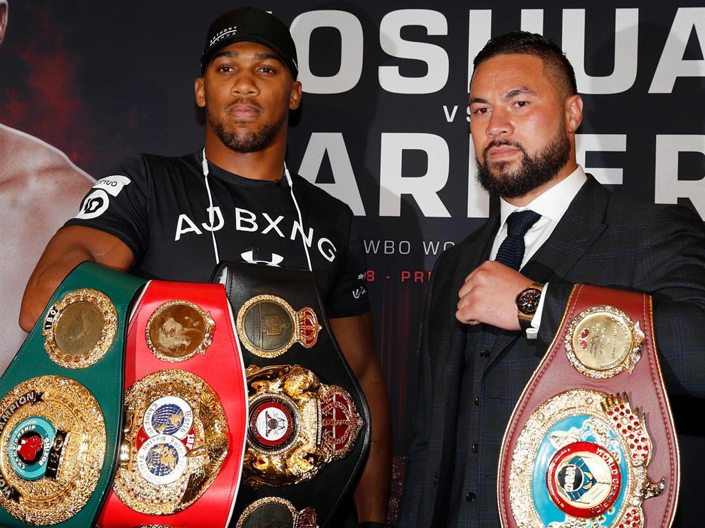 All bout the belts Joshua and Parker at the press conference today
