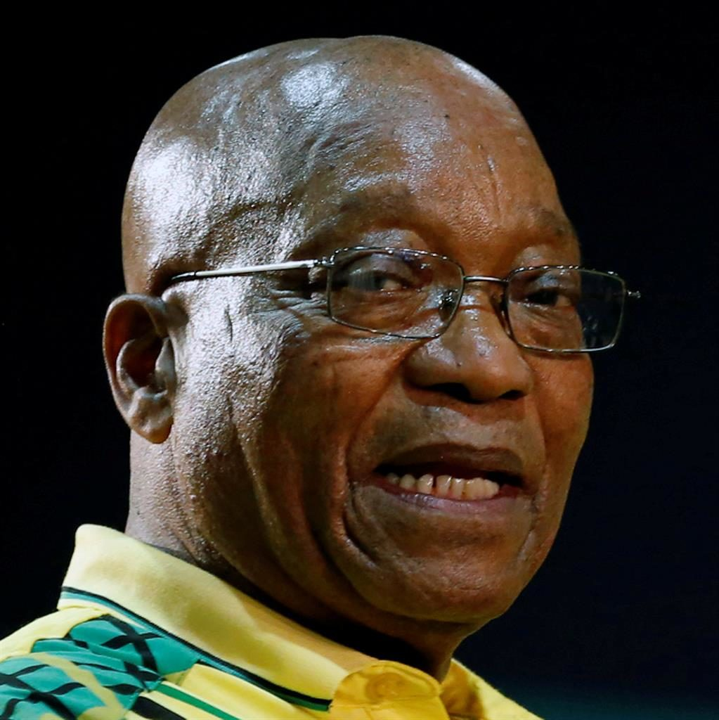 Staying put: Jacob Zuma is under pressure from the ANC leadership to quit as president a year early PICTURE: REUTERS