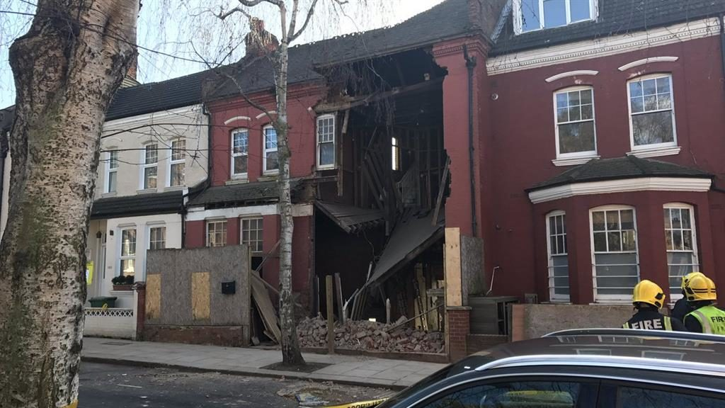 Safety fears: Ten people fled after this West Hampstead house failed PICTURE: SWNS