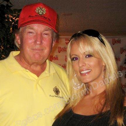 Golf tournament: Donald Trump with Stormy Daniels