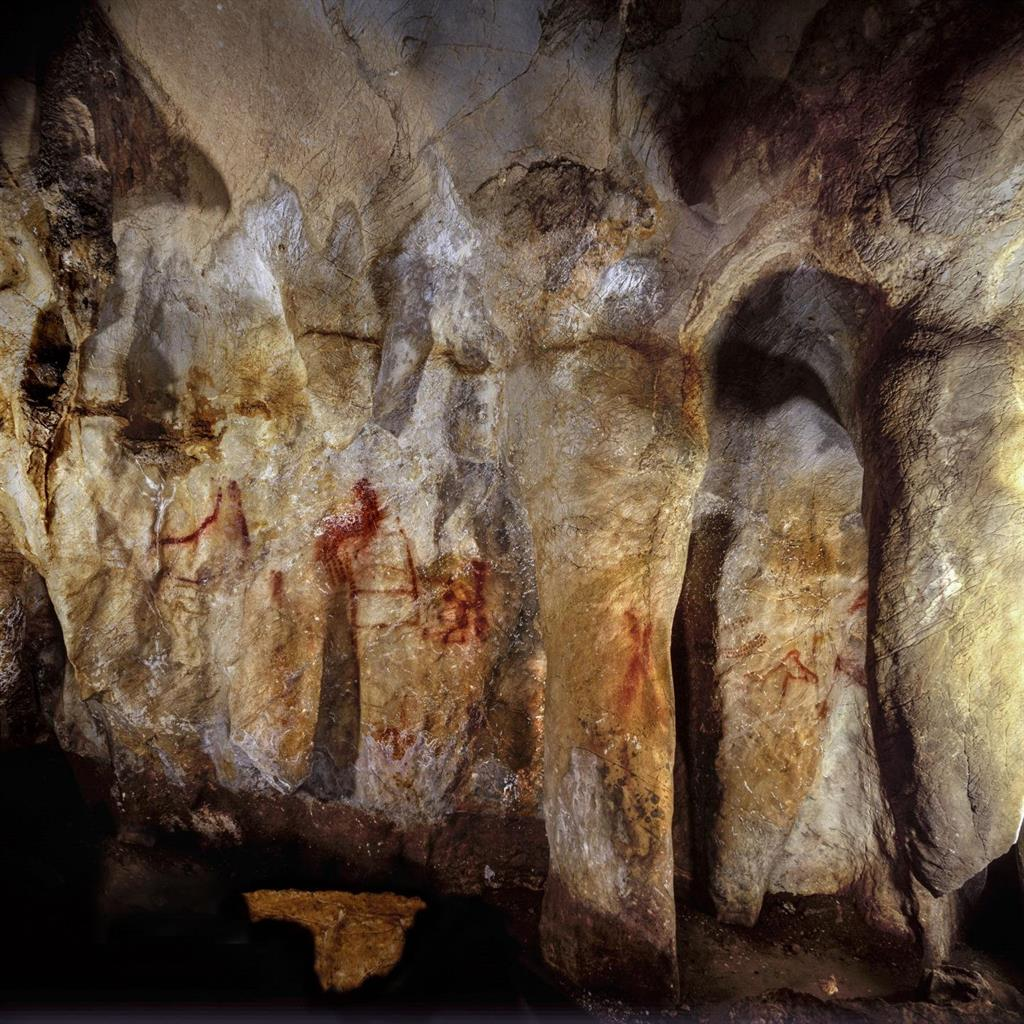 Revelation: Dating of one of the images in this group in La Pasiega showed it must have been painted by Neanderthals PICS: SWNS