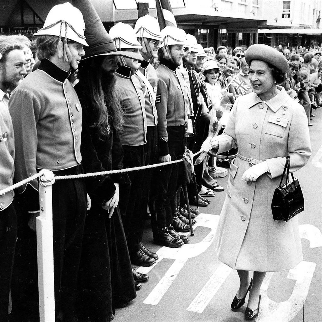 Target: The Queen in Dunedin in 1981 when Christopher John Lewis (below) shot at her with a .22 rifle PICS: CATERS NEWS