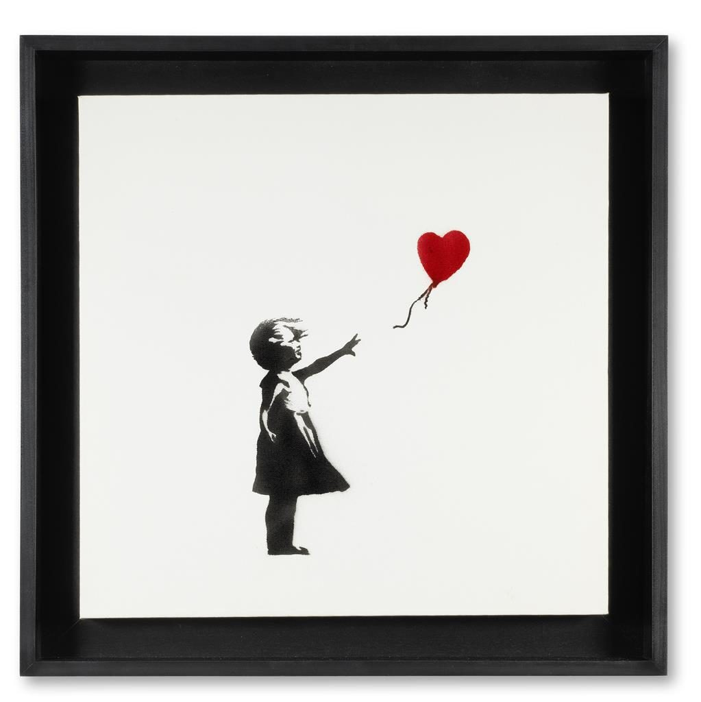 Art of the nation: Girl And Balloon canvas will be auctioned tomorrow