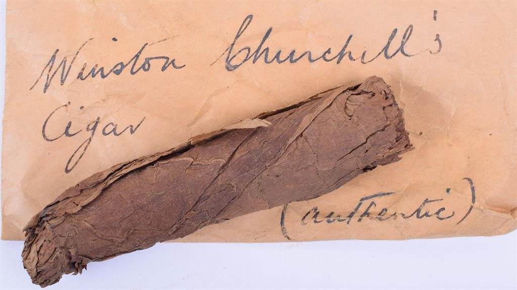 Souvenir: The cigar retrieved from an ashtray by civil servant George Henry Townsend PIC: C&T AUCTIONEERS