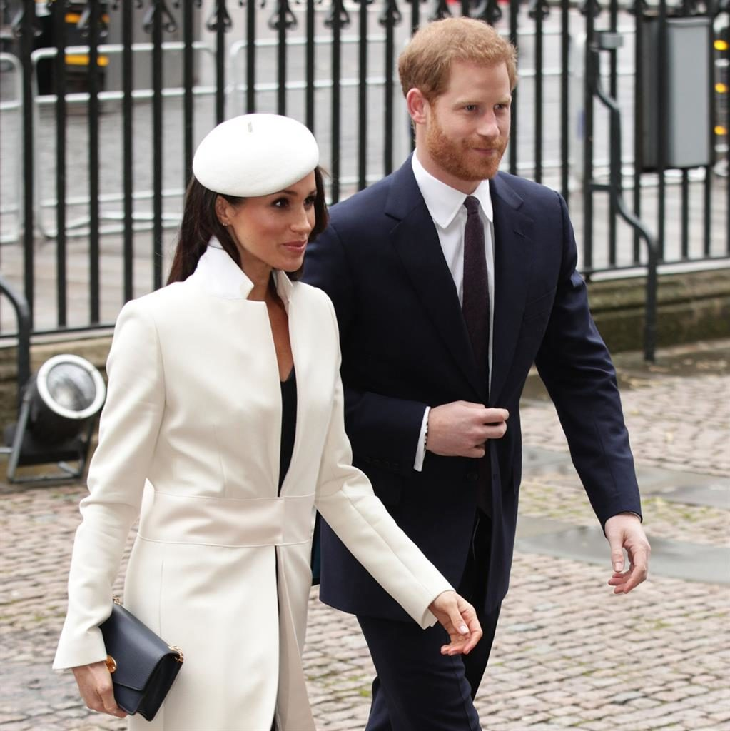 Warm welcome: Prince Harry and Meghan Markle, arrive for the Commonwealth Service PIC: YUI MOK/PA