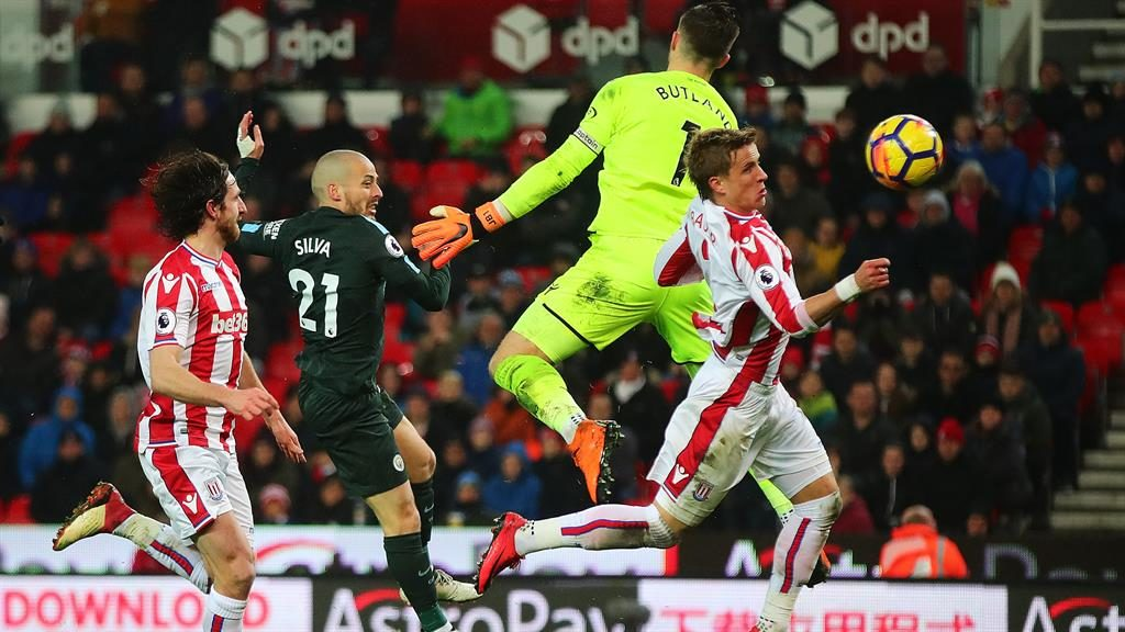 Two good: Silva lifts his second over Butland to put the result beyond doubt PICTURE: GETTY