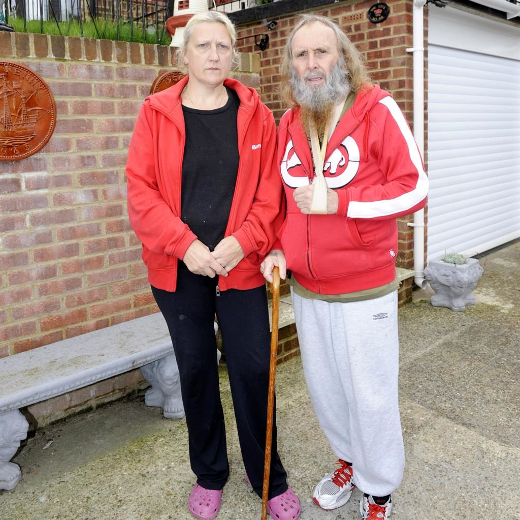 Cheats: April and Graham Totterdell, who claimed he could 'barely walk' PIC: SWNS