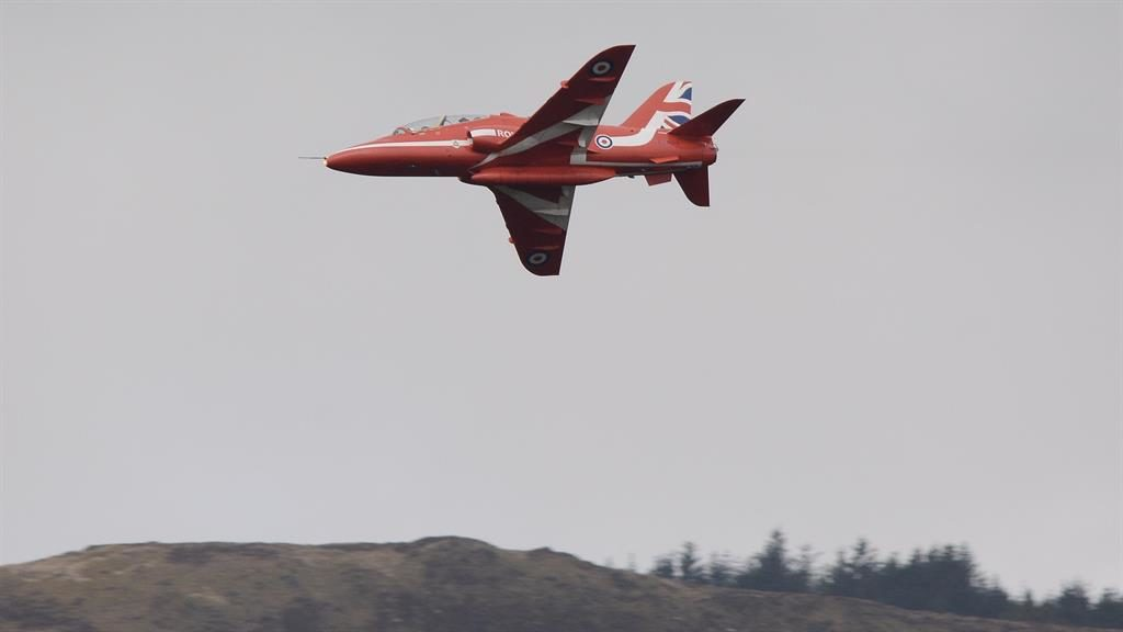 British 'Red Arrows' jet crashes at air base