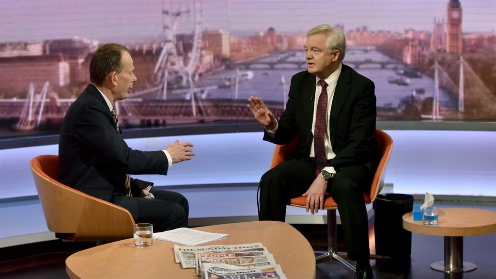 Brexit Secretary David Davis Takes Sick Bucket To Live Television Interview