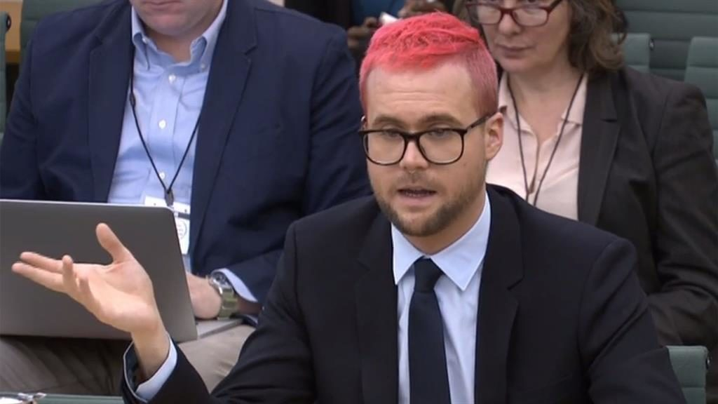 Leave 'cheats': Christopher Wylie makes allegations before MPs PIC: GETTY