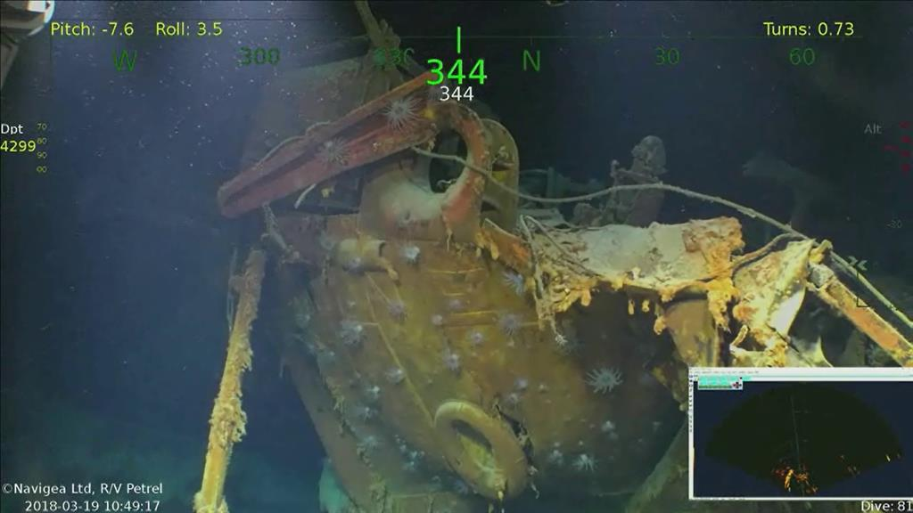 Wreckage of ship blown apart in WWII found, offering…