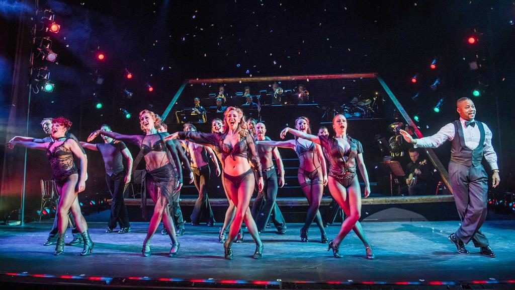 Sexiest musical ever: Gooding (right) struts his stuff with his fellow troupers as the classic show returns PICTURE: TRISTRAM KENTON