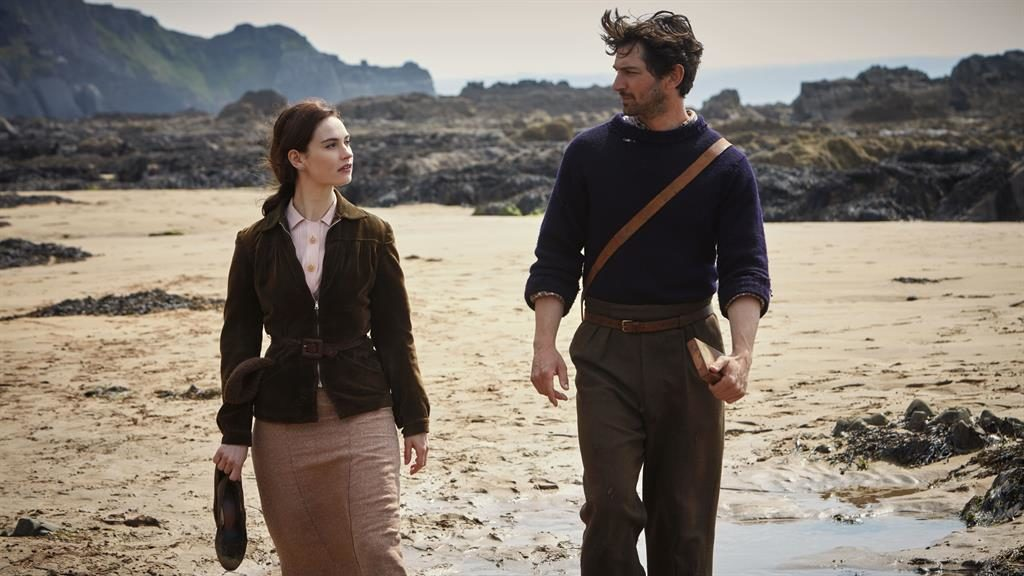 Country loving: Lily James and Michiel Huisman