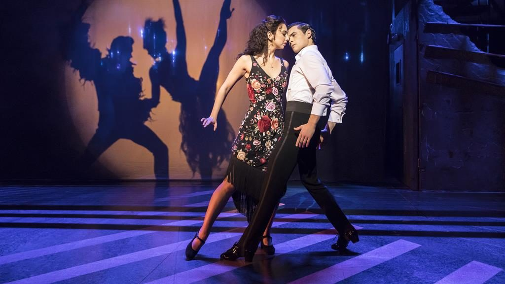 Moving on up: Zizi Strallen and Jonny Labey. (Below) Will Young PICTURES: JOHAN PERSSON
