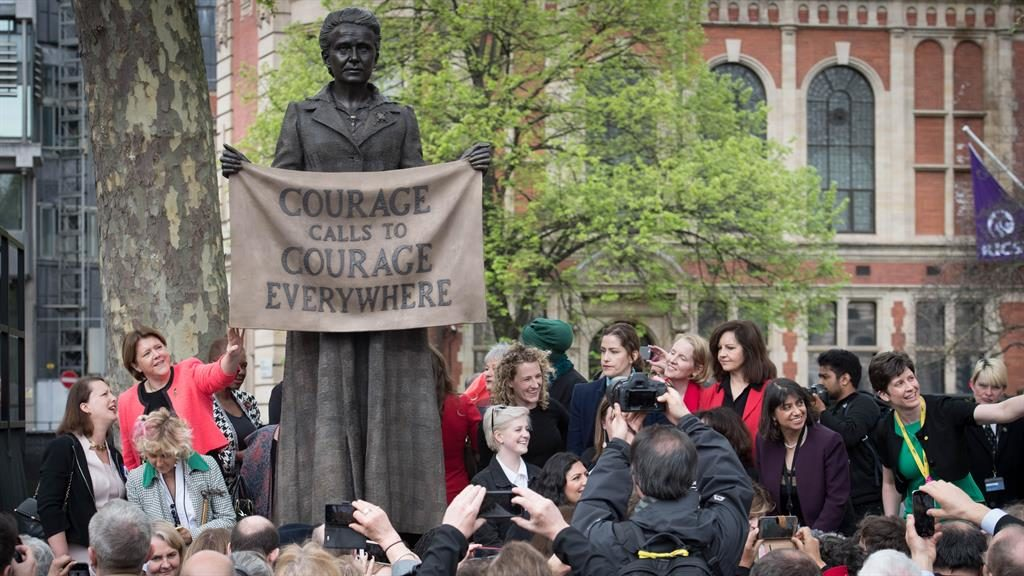 Millicent Fawcett: Suffragist becomes first woman honored in London's Parliament Square