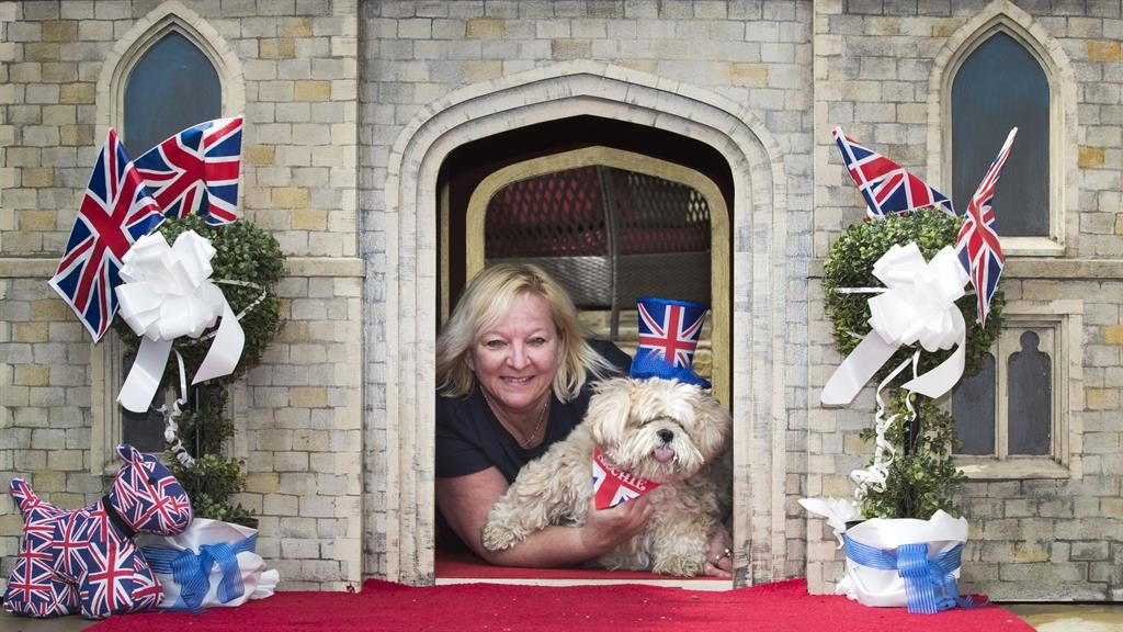 Pooch palace: Susan Crossland with her dog Archie PICTURES: PA