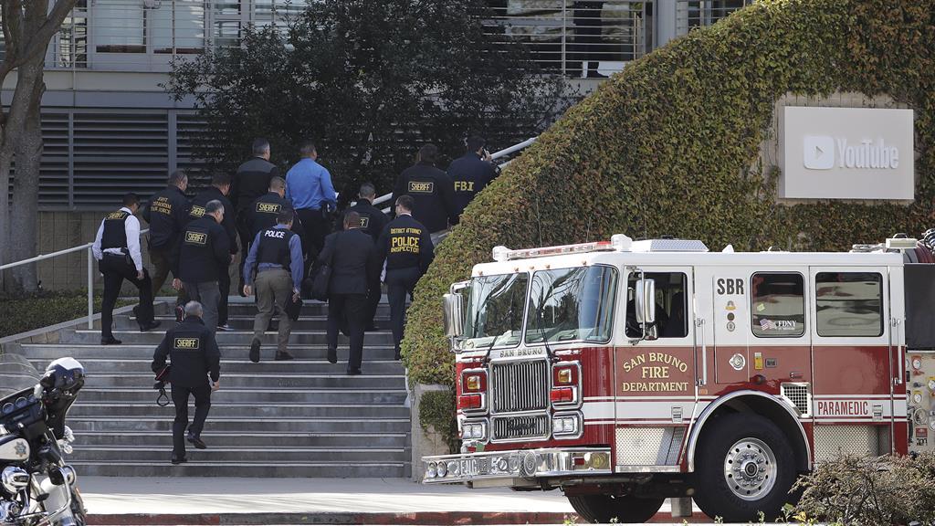 Gun drama Police at You Tube HQ