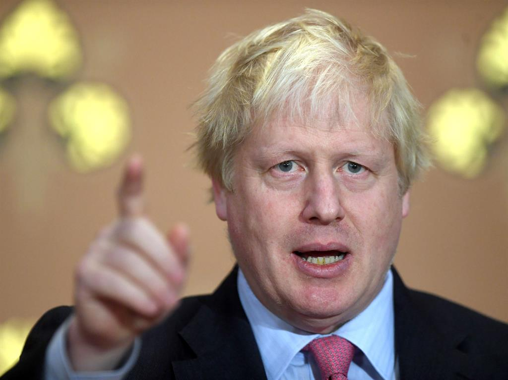 Trading insults Boris Johnson