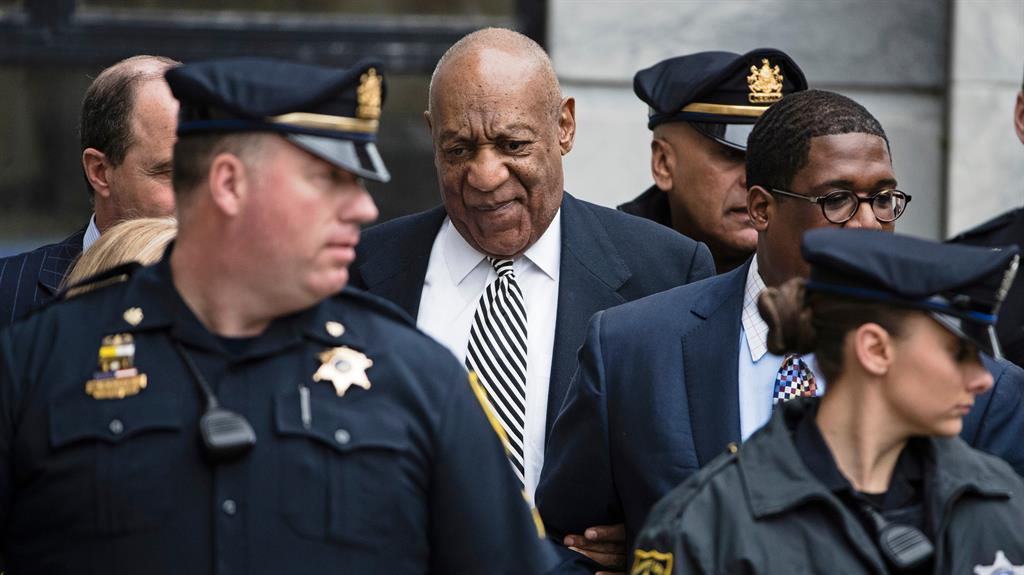 Protester Jumped Barricade Outside Bill Cosby Trial