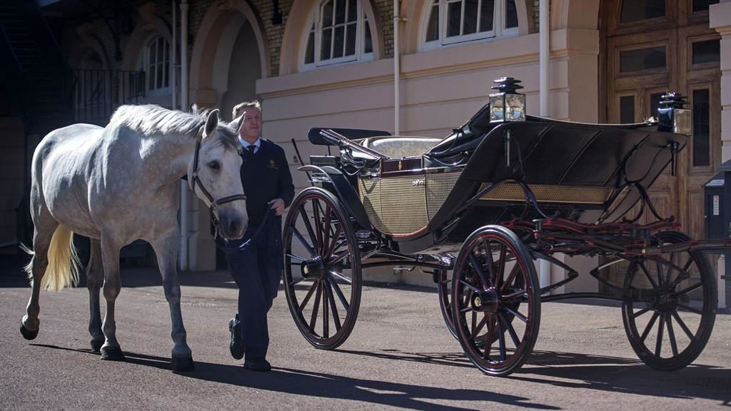 Plan A: The Ascot Landau and coachman Philip Barnard- Brown with one of the horses that will pull it PICTURE: PA