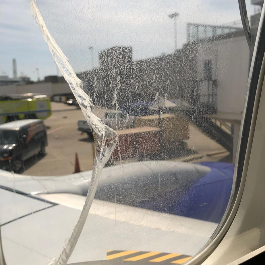 Crack habit: Gaping hole in jet window after yesterday's emergency landing in Ohio