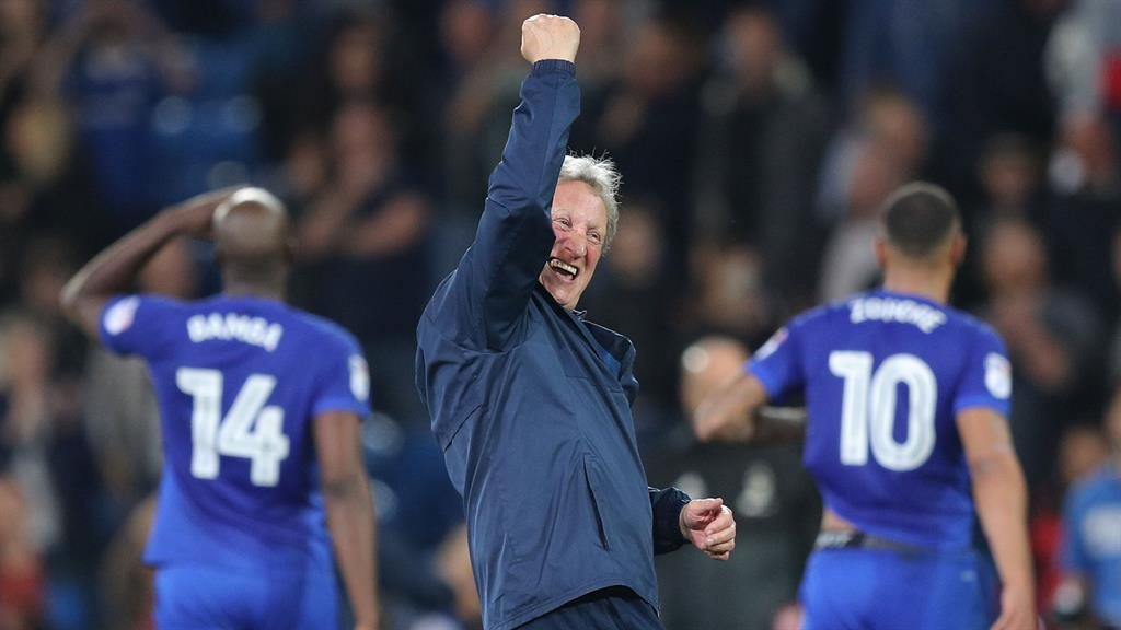 Cardiff promoted to the EPL, promotion record for Warnock