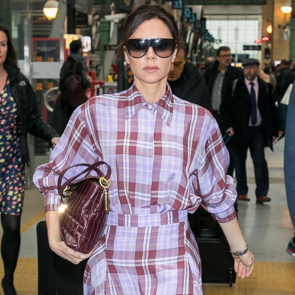 On the go: Victoria Beckham keeps a crystal in her handbag; while Tom Hardy (below) was spotted browsing the stones in a new-age store PICTURES: GC IMAGES/WIREIMAGE