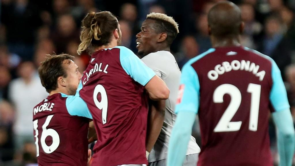Flashpoint Noble Carroll and Pogba get to grips with each other late