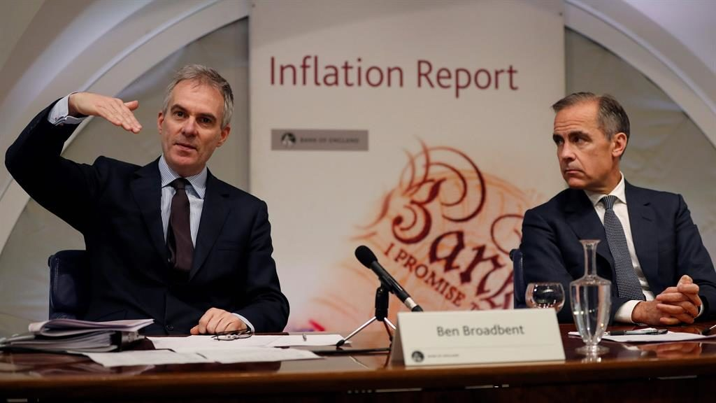 Apology: Ben Broadbent (left) with Bank of England governor Mark Carney