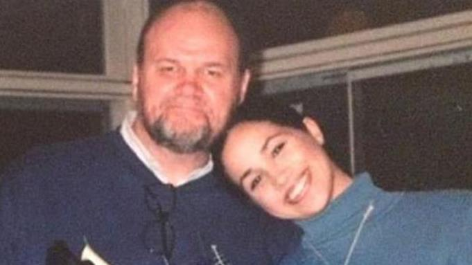 Daddy's girl Meghan with her father Thomas Markle