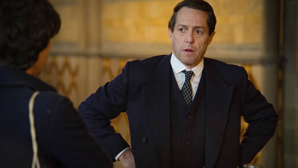 Blush-blush affair: Hugh Grant as the disgraced 1970s MP Jeremy Thorpe PICTURE: LUDOVIC ROBERT/BBC