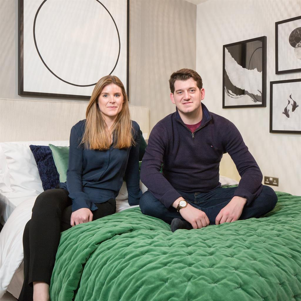 Off-plan buyers: Laura and Henry in a Fish Island show home