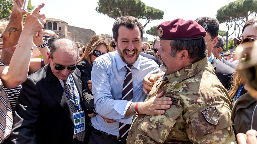 'Free ride is over': Interior minister Matteo Salvini at the end of celebrations marking Italy becoming a republic PICTURE: GETTY
