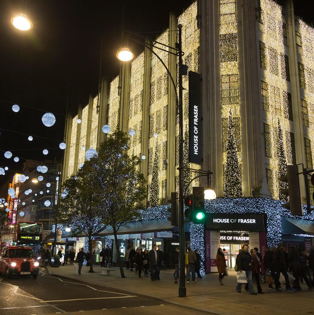 Lights out: House of Fraser's Oxford St store in London is among 31 set to shut PICTURE: ALAMY